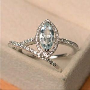 925 engagement bridal ring set
